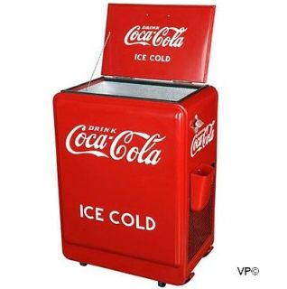 1930s Style Coca Cola Refrigerator Fridge Coke Machine Ice Box Cooler