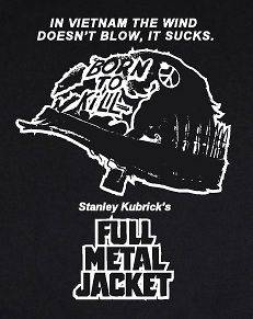 FULL METAL JACKET T SHIRT logo movie kubrick war vietnam film dvd NEW