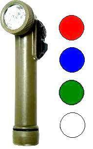 MILITARY LED ANGLE TORCH 4 COLOUR FLASHLIGHT CUB SCOUTS