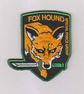 METAL GEAR SOLID MGS FOX HOUND SPECIAL FORCE GROUP Velcro Patch
