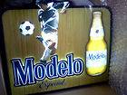 MODELO ESPECIAL SOCCER PLAYER LED LIGHTED BEER SIGN/NEW IN BOX26