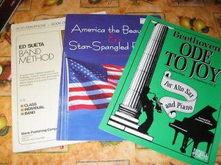 Alto Saxophone Sheet Music Books Band Method Ode to Joy Patriotic