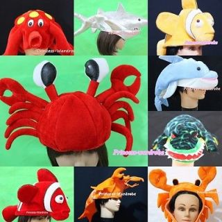 Winter Funny Cute Ocean Sea Child Party Costume Mask Cap Headgear