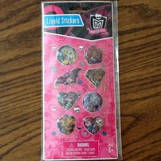 MONSTER HIGH STICKERS ~ Girl Power Birthday Party Supplies FAVORS