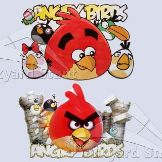 TWO Angry Birds Wall Stickers 54X35CM Nursery Room Decor 2 BIG Decals