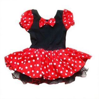 Minnie Mouse Kids Girls Birthday Party Costume Ballet Tutu Dress Size