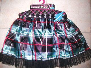 Childs MONSTER HIGH Dress Up Skirt FRANKIE STEIN DESIGN  BRAND NEW