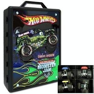 HOT WHEELS MONSTER TRUCK CARRY STORAGE CASE FOR TRUCKS KIDS TOYS 3