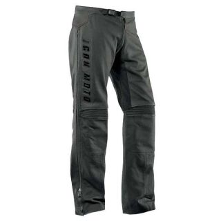 Icon Mens Automag Leather Street Pants   Black
