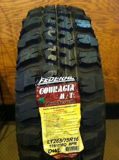 NEW LT265/75R16 Federal Couragia M/T 265/75R16 Mud Grip