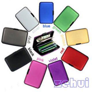 ID Credit Card Wallet Holder Aluminum Metal Case Waterproof Box