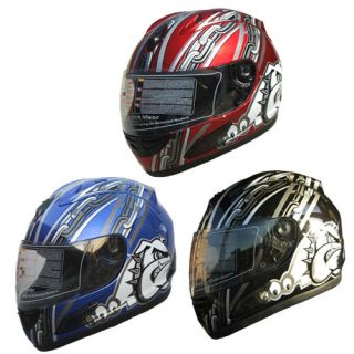 Motorcycle Helmet Full Face Sports Helmets DOT bull dog 105