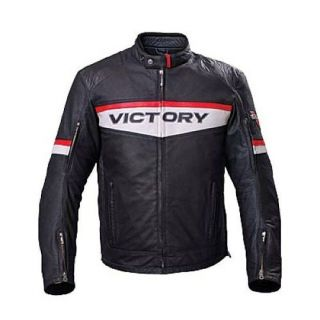 All New Mens Victory Black Motorcycle BRAND Leather Jacket Zip out