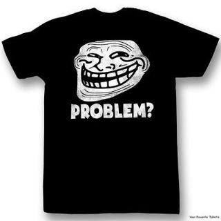 Licensed You Mad? Troll Face meme Problem ? On Black Adult Shirt S 2XL