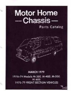 1978 1979 Dodge Motor Home Part Numbers Book List Guide Interchange