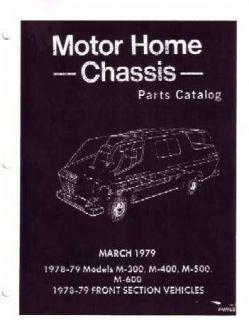 1978 1979 Dodge Motor Home Part Numbers Book List Guide Interchange