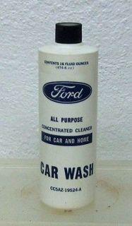 original FORD part car wash auto wax oil polish plastic bottle can