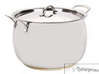 quart belly shaped Stainless Steel stock pot 7mm encapsulated bottom