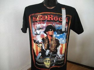 Black T Shirt KID ROCK & The Twisted Brown Trucker Band Troop Tour