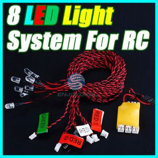 High brightness 8 LED Flashing Light System for RC Helicopter Glider