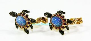 JAY STRONGWATER BABY TURTLE ON GOLD PLTD NAPKIN RINGS SET OF 2 RARE