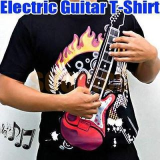 With Amp M X XL Size Playable Rock Electronic Guitar T Shirt Amplifier