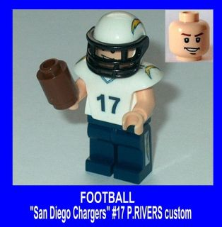 NFL FOOTBALL Lego San Diego Chargers #17 Jersey (P. Rivers) NEW custom