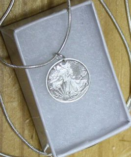Sterling Silver Chain and Pendant 925 Necklace Pendant .999