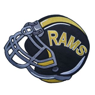 RAMS HELMET NFL FOOTBALL CREST Embroidered Iron on Patch #S004