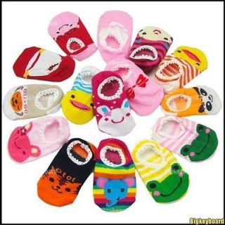 New Cute Baby Toddler Unisex Anti Slip Socks Shoes Slippers