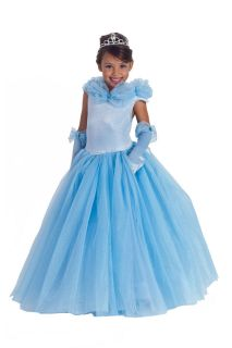 Cinderella Princess Paradise Cynthia Costume Blue DRESS Child 3 4 5 6