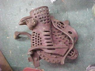 Vintage Antique Cast Iron Hand Crank Corn Sheller by Root Heath Farm