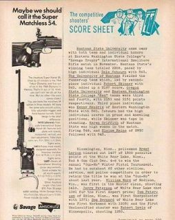 1971 SAVAGE AD ANSCHUTZ MATCHLESS 54 1413 TARGET RIFLES