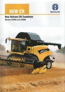 New Holland Combine CR Series   CR960 & CR980 Brochure   Black Decal