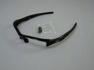 New AUTHENTIC Oakley Flak Jacket Jet Black Frame & Nose Pieces