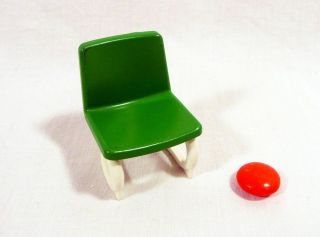 PLAYMOBIL   Office Chair   Green   Office Police Hospital Miniature
