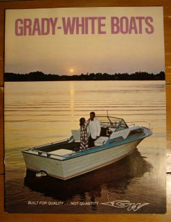 VINTAGE GRADY WHITE BOATS 1973 BROCHURE ADVERTISEMENT STING RAY ANGLER