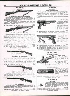 1947 AD Daisy Benjamin Air Rifle Air Pistol Red Ryder Pump Gun Shot