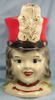 Rare 1950s Drum Majorette Cookie Jar by Regal China A Beauty