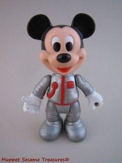 Vintage Disney ASTRONAUT MICKEY MOUSE PVC FIGURE Arco Toy 4.5