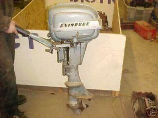 Evinrude Fleet Twin outboard Motor engine vintage short