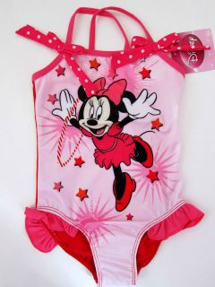 /Toddler Disney Minnie Mouse Bow One Piece Swimsuits Pink Size 2T 5T