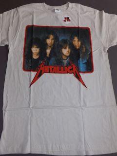METALLICA Old School T Shirt **NEW tour concert band music SLIM FIT