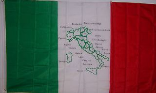 NEW 3ftx5 ITALY MAP FLAG ITALIAN COUNTRY BANNER