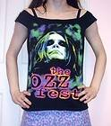 Off Shoulder Top DIY Heavy Metal Shirt Upcycled OOAK Ozzy Osbourne