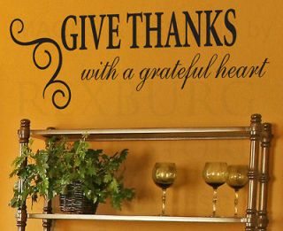Wall Decal Sticker Quote Vinyl Art Lettering Decorative Give Thanks