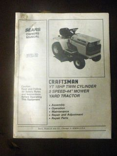 craftsman yt 3000 owners manual