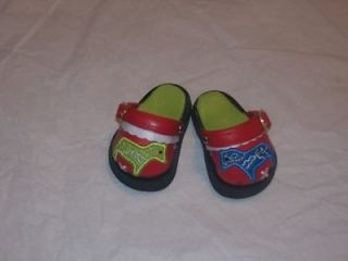 Red Dala Swedish Horse Shoes Clogs Fits 18 American Girl Doll
