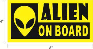 ALIEN ON BOARD Funny Decal Sticker PAUL Car Bumper~BS28