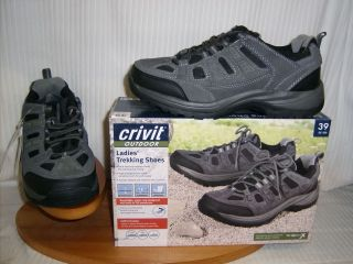 Crivit Outdoor ladies Trekking shoes/trainer Grey/Black Suede Leather